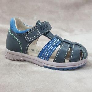 KICKERS Baby Boys Leather Fisherman Sandals Sz 6
